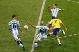 Argentina v Brazil football match